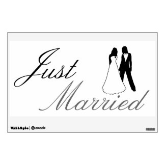 Just Married Two Brides Wall Sticker