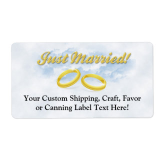 Just Married, Two Gold Bands/Clouds Label