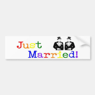 Just Married (two men) Bumper Sticker