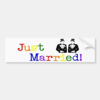 Just Married (two men) Bumper Sticker