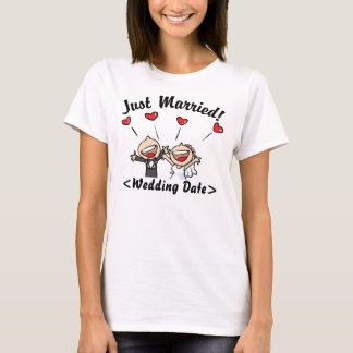 Just Married (Type Wedding Date) T-Shirt