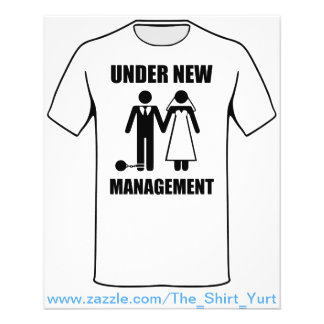 Just Married, Under New Management Full Color Flyer
