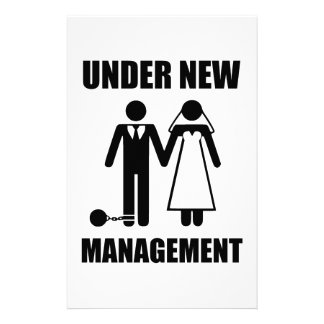 Just Married, Under New Management Stationery