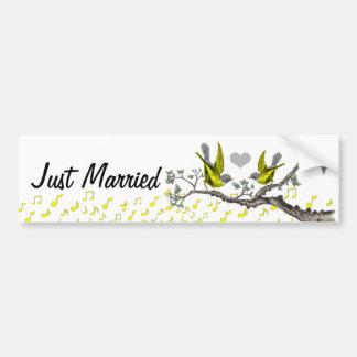 Just Married Vintage Birds BumperSticker Bumper Sticker