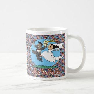 Just Married WB BG Classic White Coffee Mug