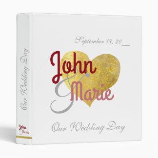 just-married, wedding album, romantic and custom binder