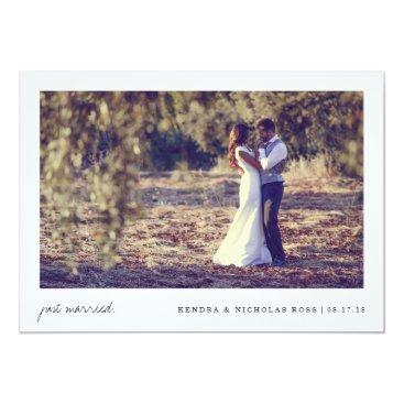 RedwoodAndVine Just Married | Wedding Announcement
