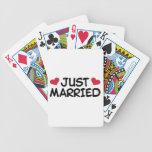 Just Married Wedding Bicycle Card Decks