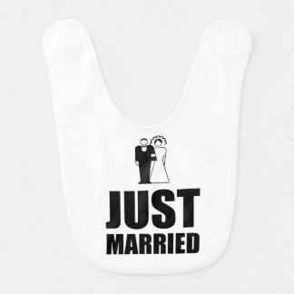Just Married Wedding Bride Groom Baby Bib