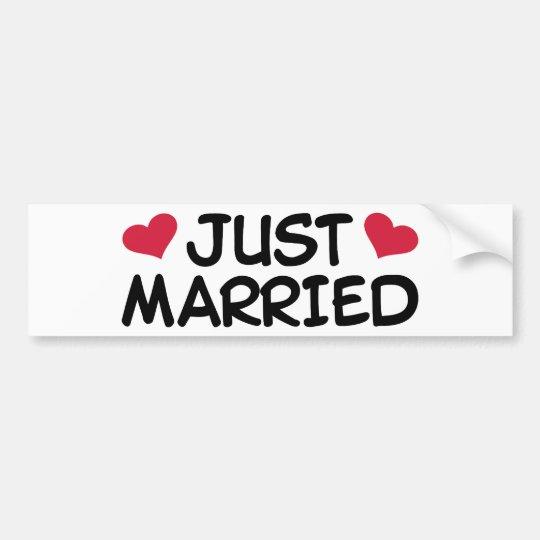 Just Married Wedding Bumper Sticker