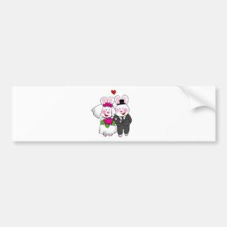 just married (wedding bunnies) bumper sticker