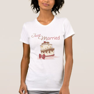 Just Married Wedding Cake T Shirts