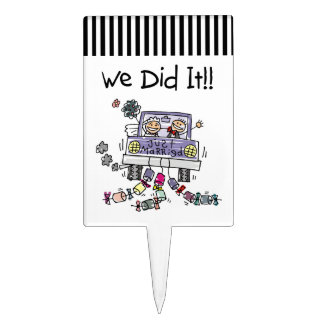 Just Married Wedding Car Cake Topper