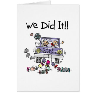 Just Married Wedding Car Stationery Note Card