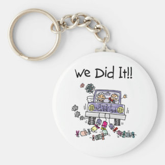 Just Married Wedding Car Key Chains
