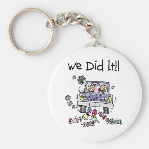 Just Married Wedding Car Key Chains