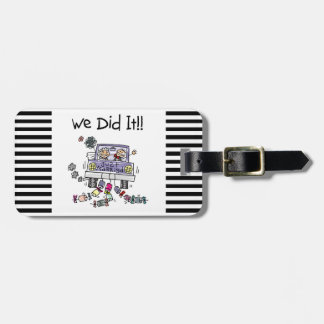 Just Married Wedding Car Luggage Tags