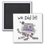 Just Married Wedding Car Magnet