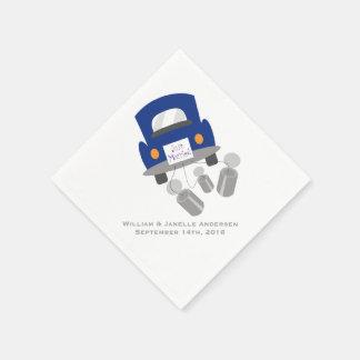 Just Married Wedding Car Paper  Napkins Disposable Napkins
