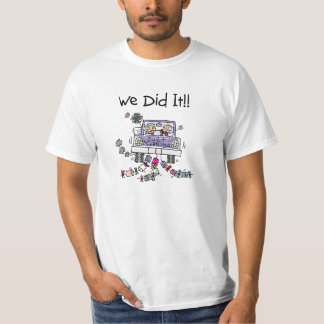 Just Married Wedding Car T-Shirt