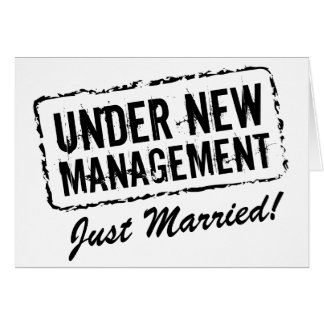 Just Married wedding cards   Under new management