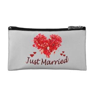 Just Married Wedding Cosmetic Bag