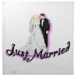 Just Married Wedding Couple Cloth Napkin