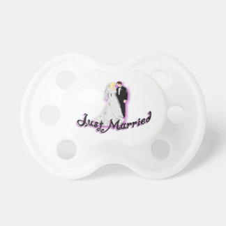 Just Married Wedding Couple Pacifier