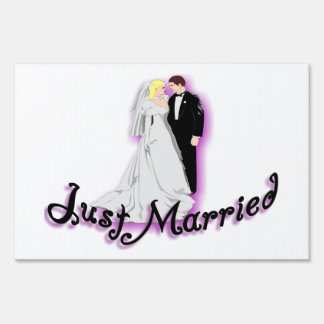 Just Married Wedding Couple Signs