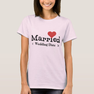 Just Married (Wedding Date) T-Shirt