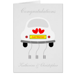 Just married wedding day congratulations card