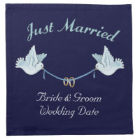 Just Married Wedding Doves Napkin