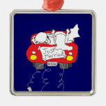 Just Married Wedding Gift Christmas Ornaments