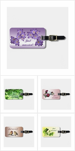 Just Married!  Wedding Luggage Tags