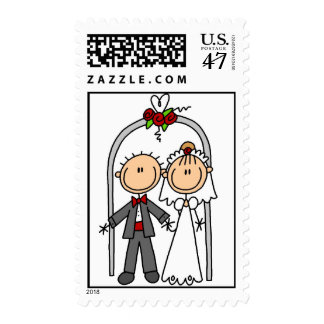 Just Married Wedding Postage Stamps