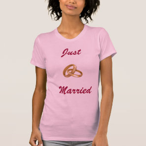 Just Married - Wedding Rings T-Shirt
