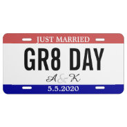 Just Married Wedding Souvenir Car Number License Plate at Zazzle