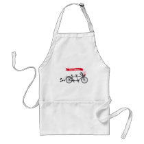 Just married, wedding tandem bicycle adult apron