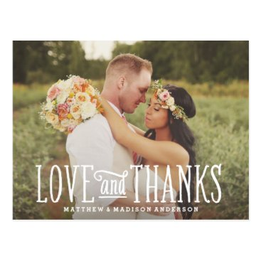 FINEandDANDY Just Married | Wedding Thank You Postcard