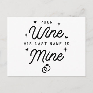 Just Married Wedding Wine Announcement Mrs Black