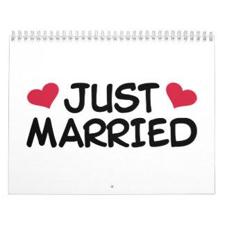 Just Married Wedding Calendar