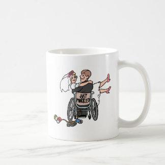 Just Married Wheelchair Coffee Mug