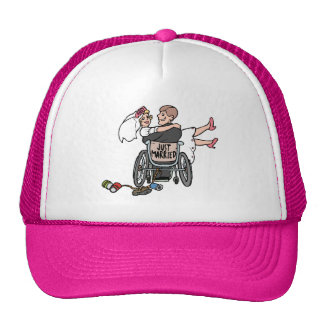 Just Married Wheelchair Hat