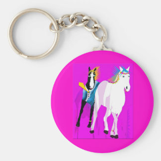 Just Married - Whimsical Horse Collection Keychain