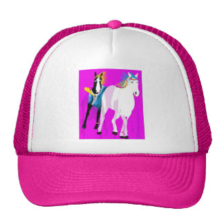 Just Married - Whimsical Horse Collection Trucker Hat