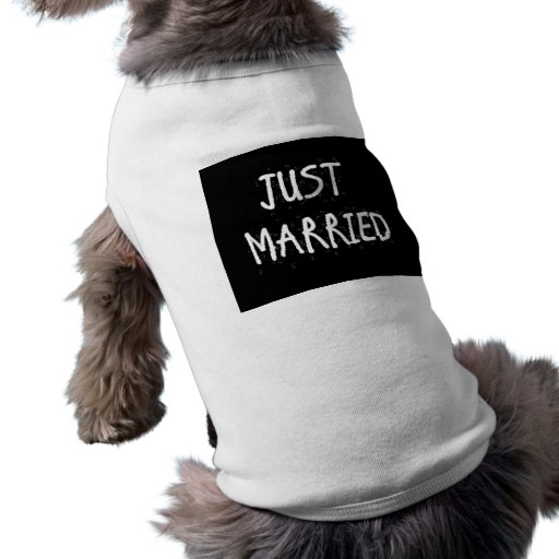 JUST MARRIED WHITE ON BLACK DOG CLOTHING