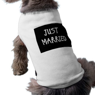 JUST MARRIED WHITE ON BLACK T-Shirt