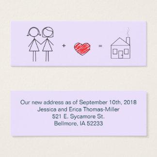 Just Married Women New Address Card