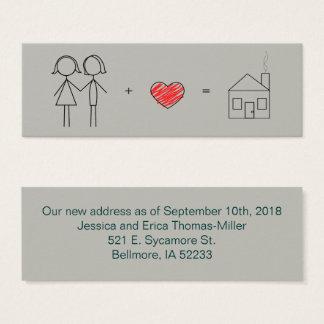 Just Married Women New Address Mini Business Card
