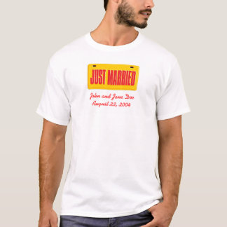 Just Married - Yellow T-Shirt